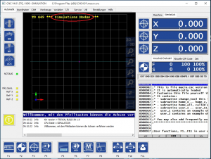 CNC-Simulationsmodus-markiert