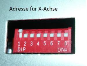 DIP-Schaltung-X-Achse