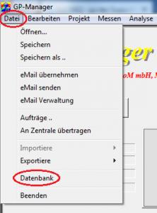 Datei-Datenbank-markiert