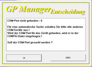 GP-Manager-COM-Port-nicht-gefunden