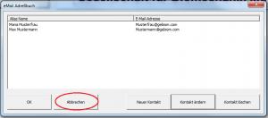GP-Manager-eMail-Adreßbuch-2-Kontakte-Abbrechen-markiert