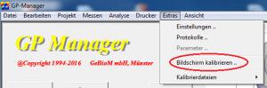 Menü-Extras-Bildschirm-kalibrieren-markiert