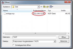 Remote-Datei-Öffnen-Datum-markiert