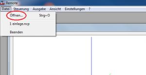Remote-Datei-Öffnen-markiert