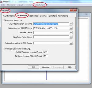 Remote-Einstellungen-Optionen-markiert