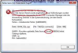 SQL-Fehler-lokal-Dienst-markiert