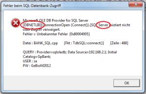 SQL-Fehler-remote-Server-markiert