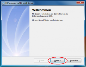 SSL-Fix-Installation-Screen1-Weiter-markiert