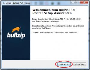Setup-Bullzip-Installation-akzeptieren-Weiter-markiert
