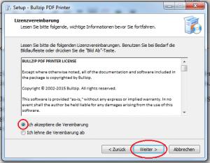Setup-Bullzip-Lizenzvereinbarung-akzeptieren-weiter-markiert