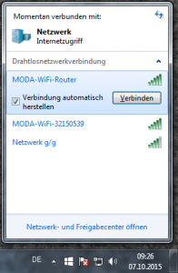 Verbindung mit Router herstellen